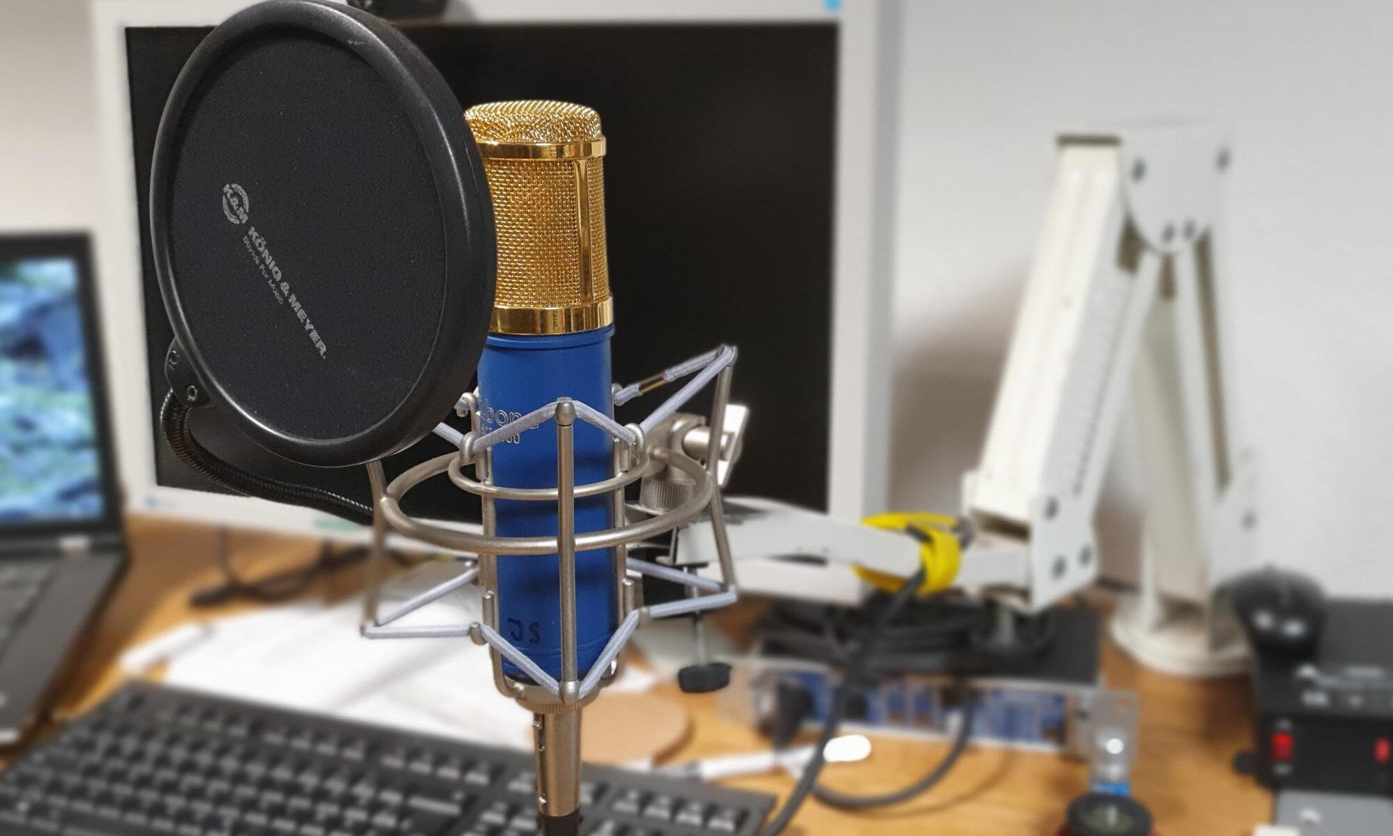 Mein Mikrofon zum Podcasten