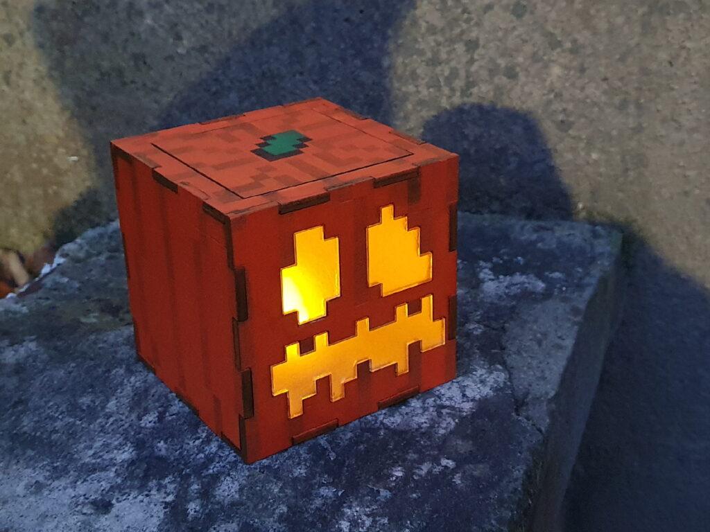 Minecraft Jack O'Lantern im Dunkeln