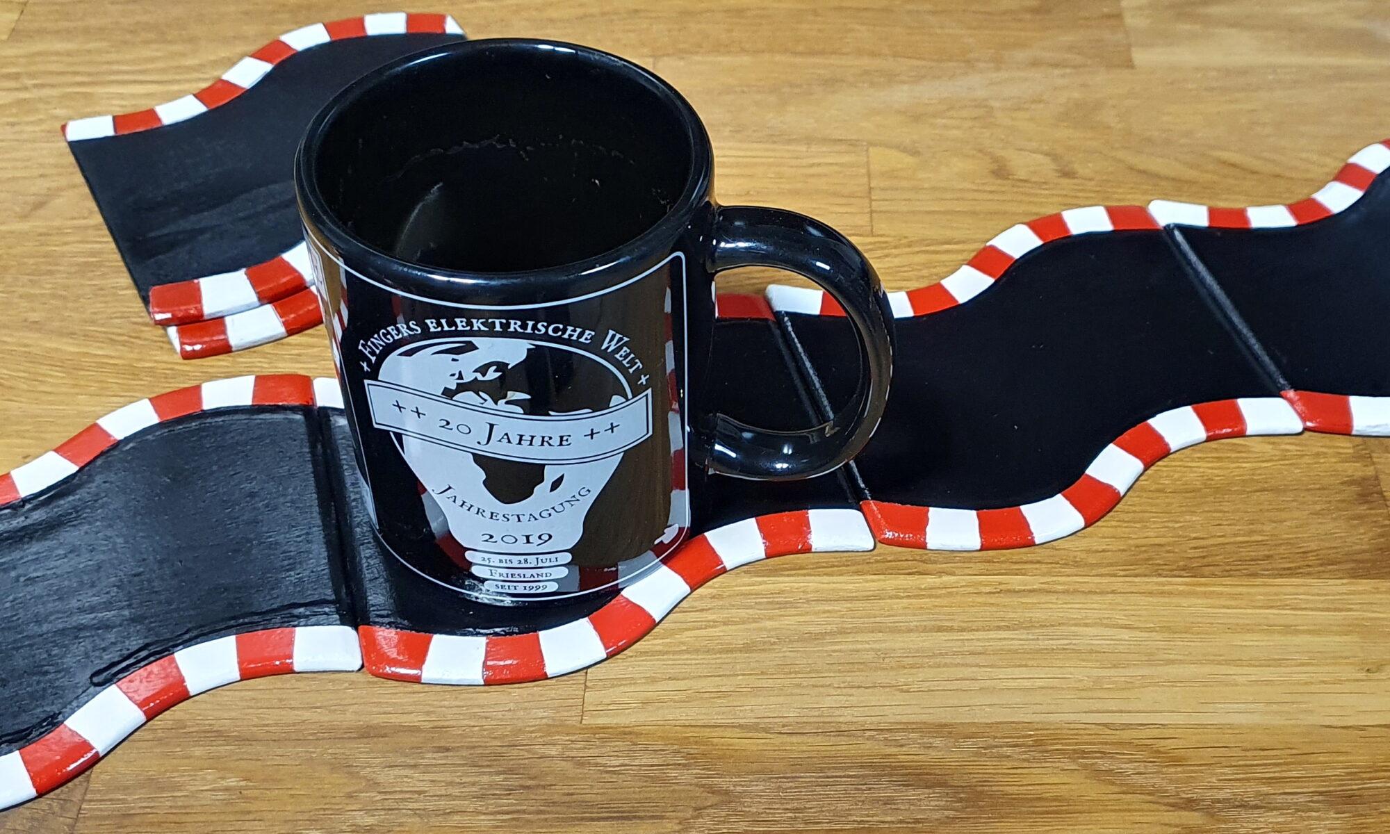 Tassenuntersetzer im Motorsport Design