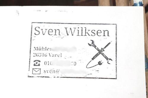 Meine erste selbstgedrucke Visitenkarte