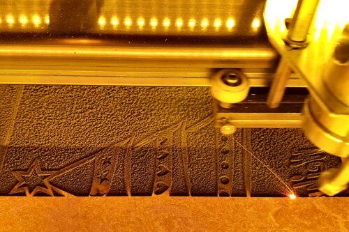 Linoleum unter Photonenbeschuss