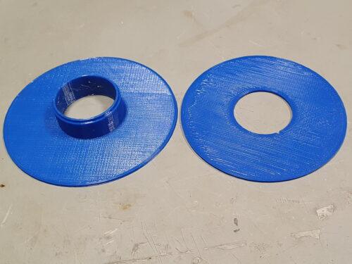 Zweiteilige Kabelspule, frisch aus dem 3D Drucker